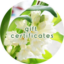 Spa Gift Certificates!!